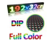 Led ηλεκτρονική επιγραφή πινακίδα μονής όψης (διαστ. 192x32cm) Full Color DIP
