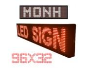 Led ηλεκτρονική επιγραφή - πινακίδα led μονής όψης (διαστ 32 X 96 cm)