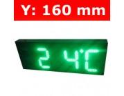 """Πινακίδα led για Ρολόι Θερμοκρασία / Αντ. μέτρηση/ Ρολόι - 6"""""""
