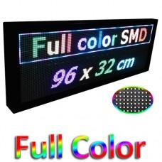 Led ηλεκτρονική επιγραφή πινακίδα μονής όψης (διαστ. 96x32cm) Full Color SMD
