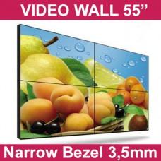 "LCD Video Wall 55"", Bezel 3,5mm"