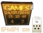 Led ηλεκτρονική επιγραφή - πινακίδα led μονής όψης (διαστ 64 X 64 cm) με χειριστήριο